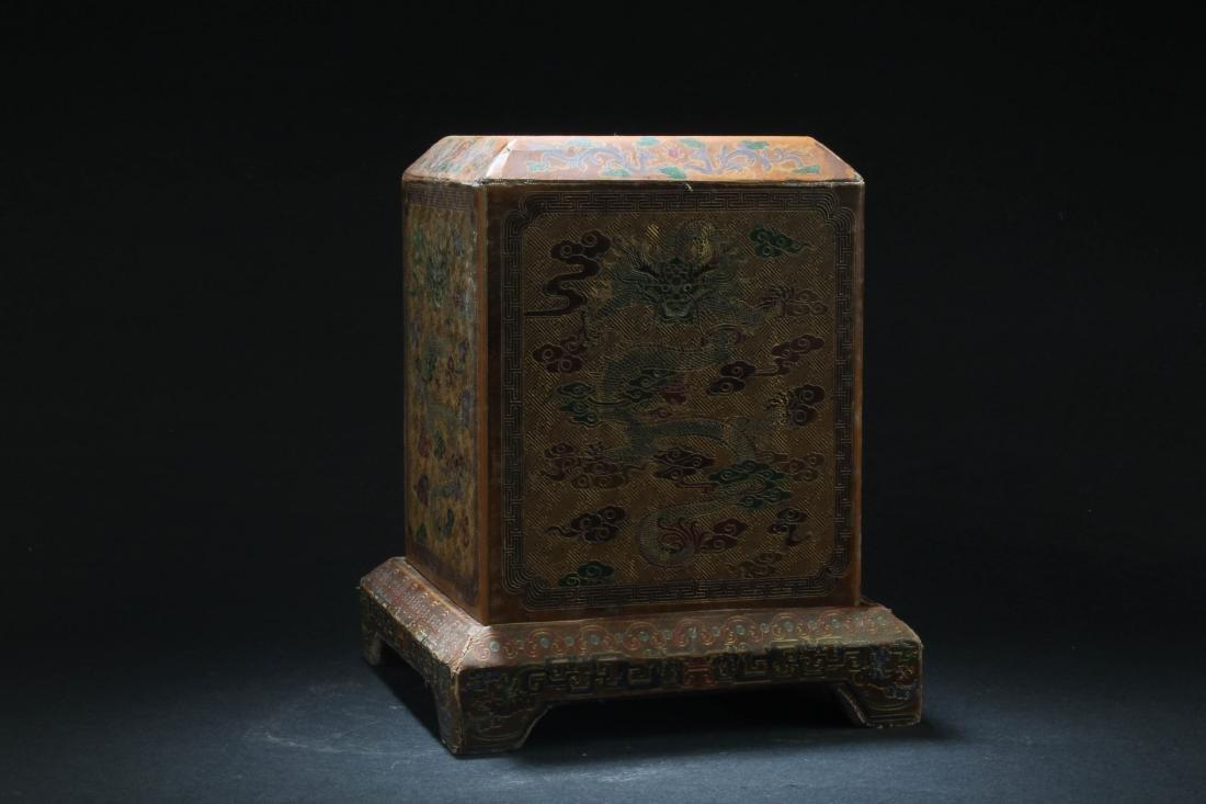 Chinese Hardwood Square Box