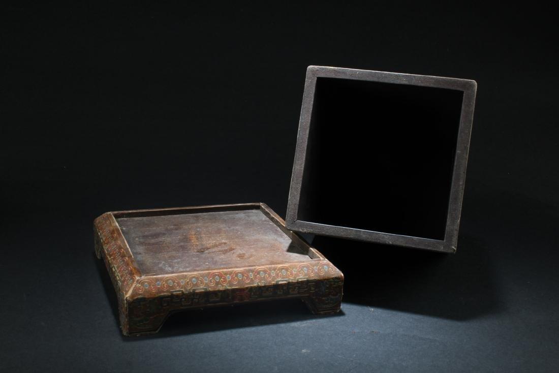 Chinese Hardwood Square Box - 4