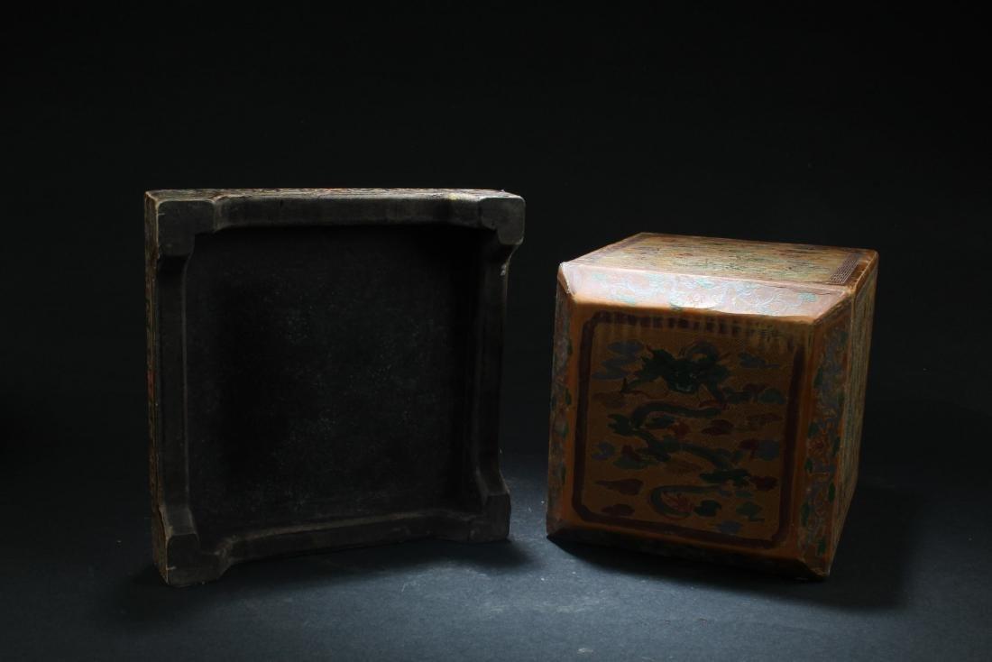 Chinese Hardwood Square Box - 5