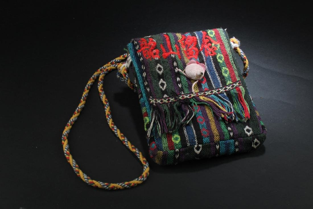 An Embroidered Sling Bag
