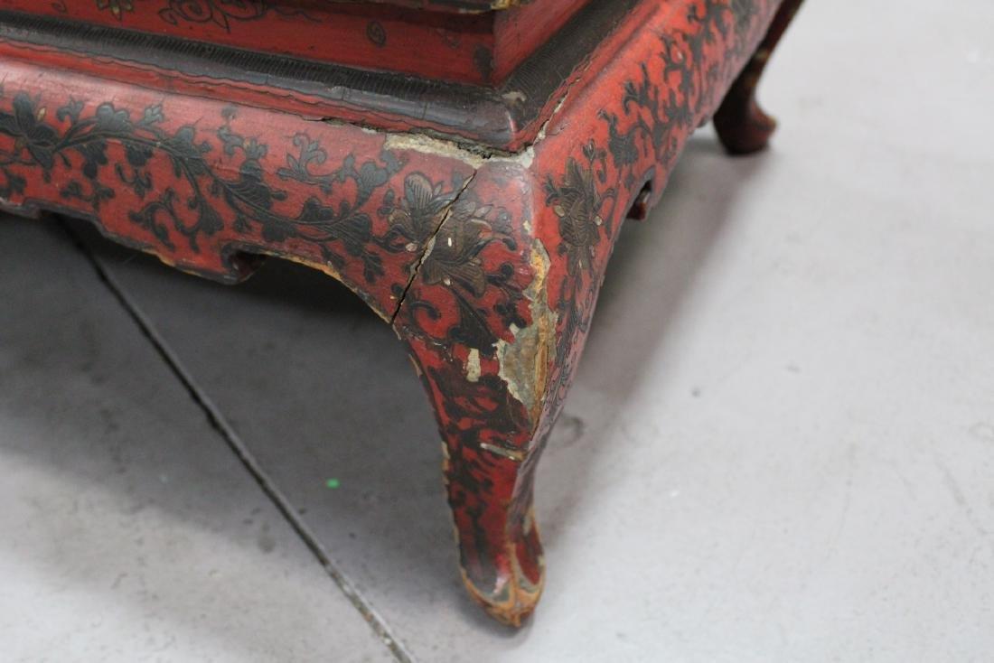 Antique Lacquer Low Table - 2