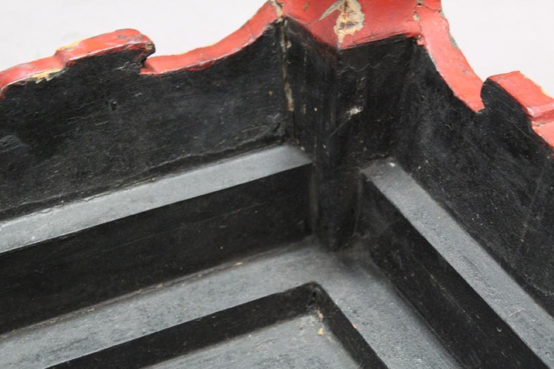 Antique Lacquer Low Table - 5