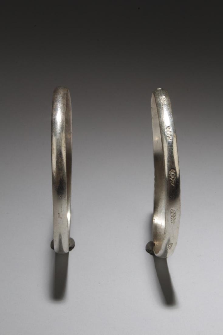 A Pair of Silver Bracelets - 2