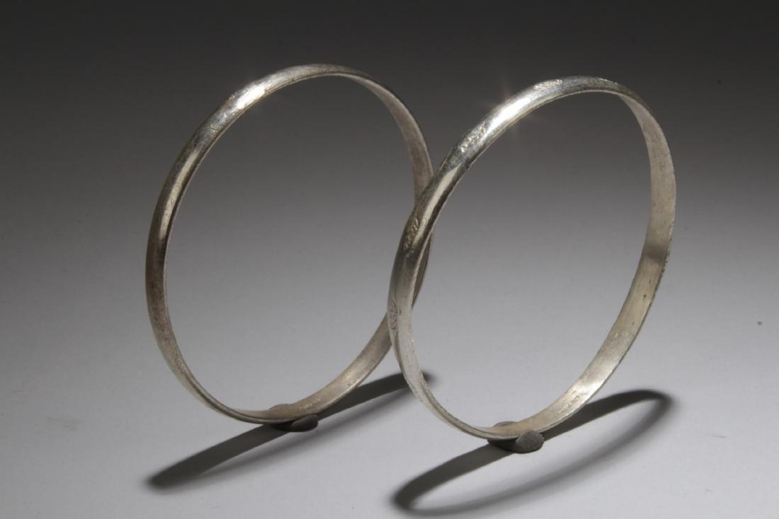 A Pair of Silver Bracelets - 3