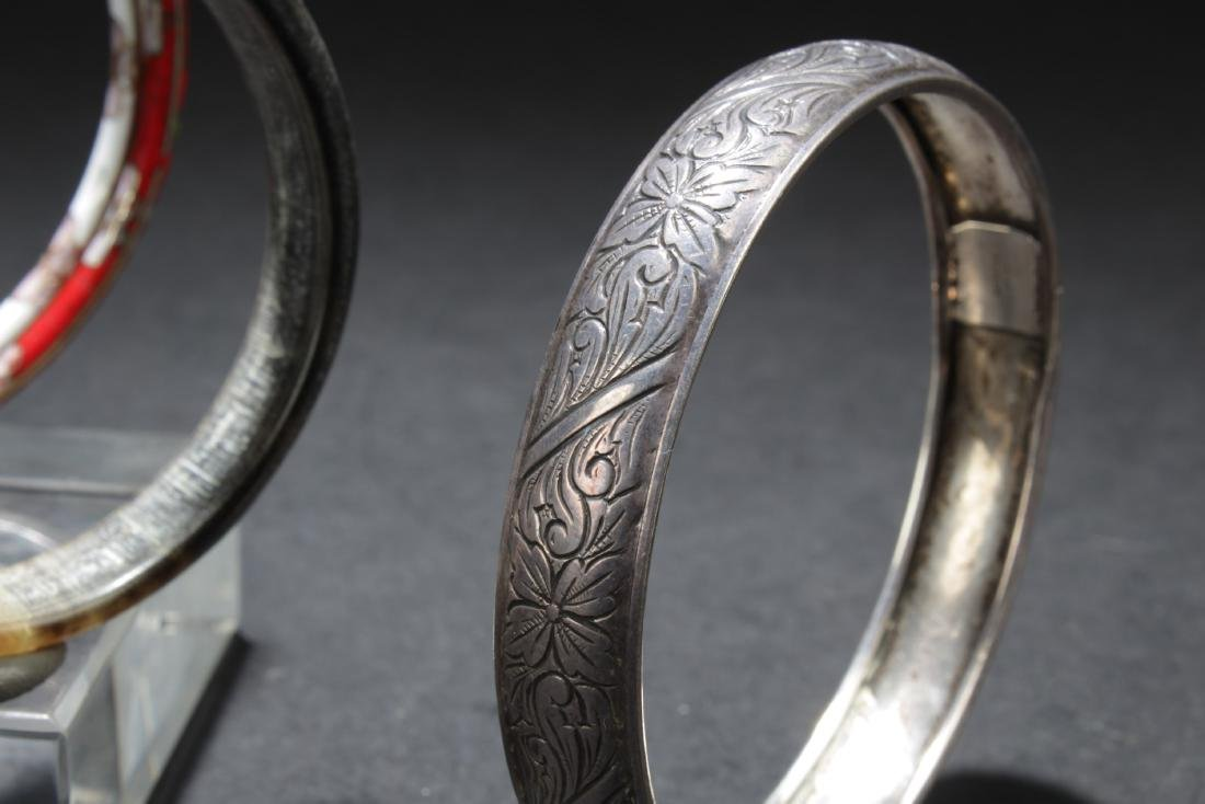 A Set of Five Silver/Cloisonne Bracelets - 2