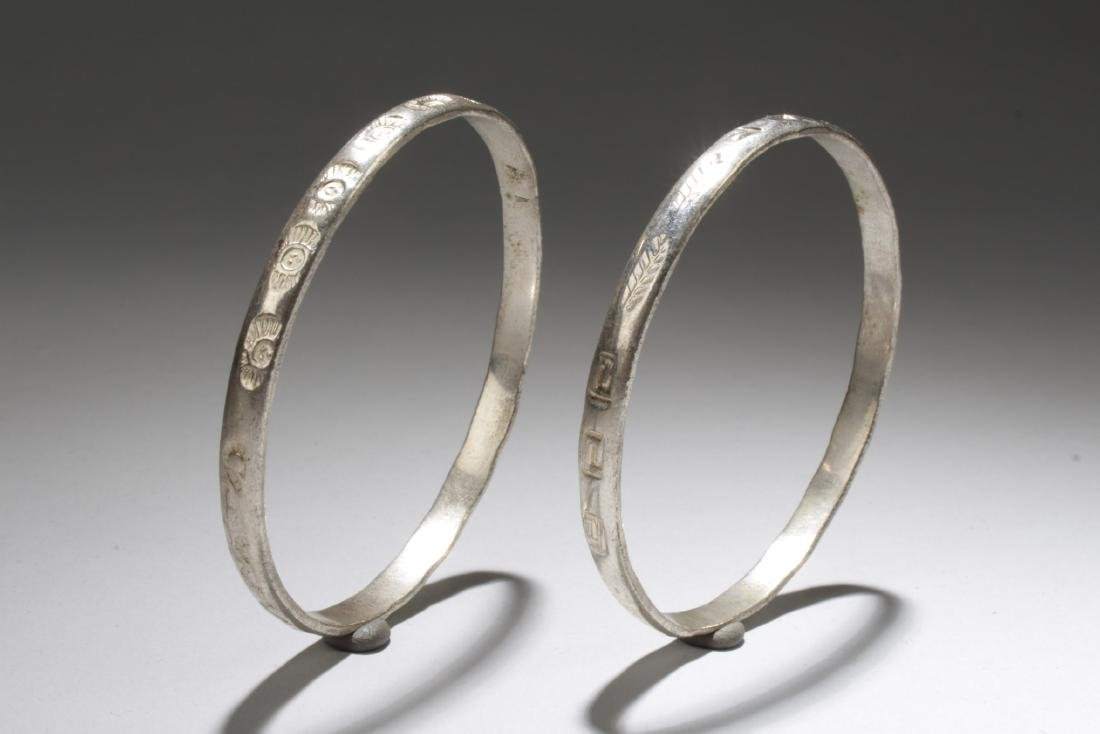 A Pair of 925 Silver Bracelets