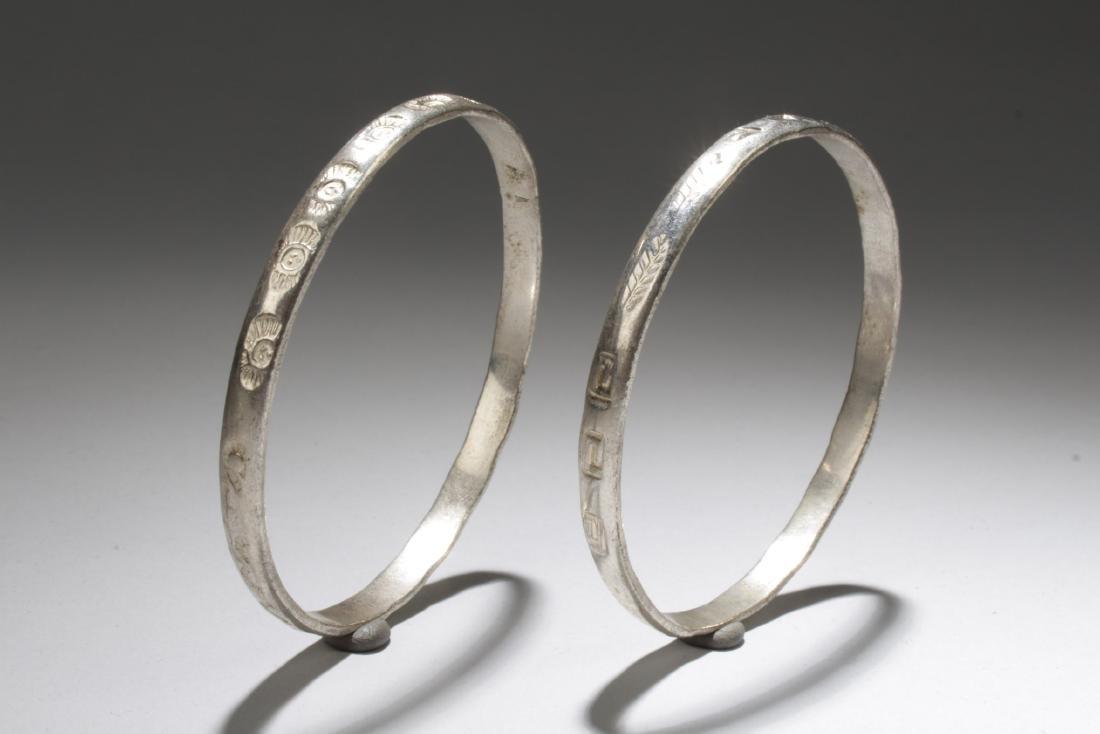 A Pair of 925 Silver Bracelets
