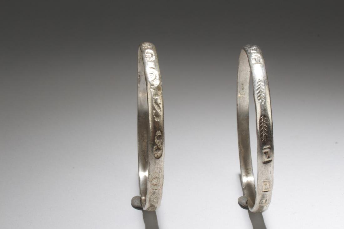 A Pair of 925 Silver Bracelets - 2