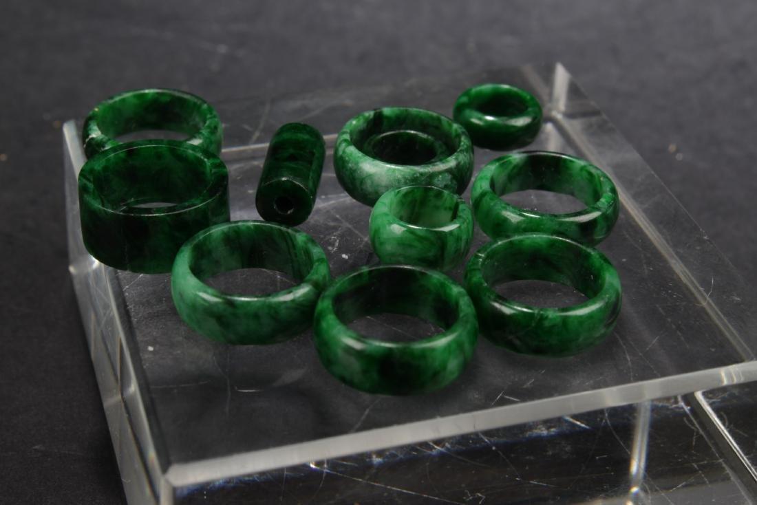 A Group of Jadeite Jade Earrings