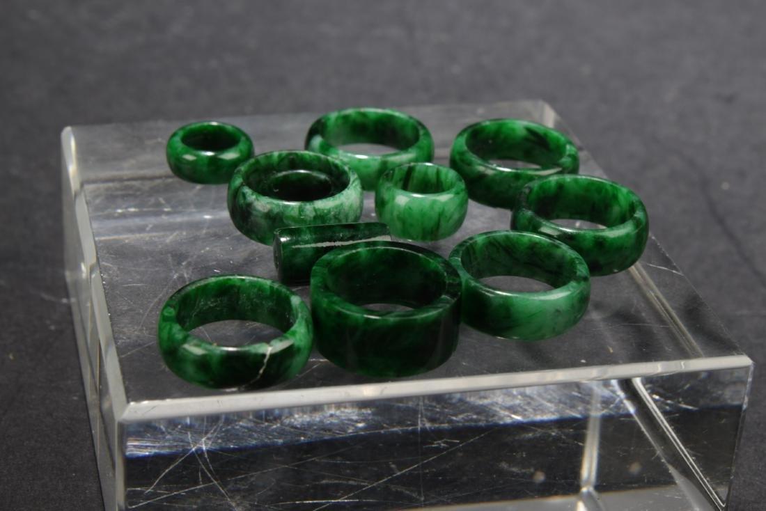 A Group of Jadeite Jade Earrings - 2