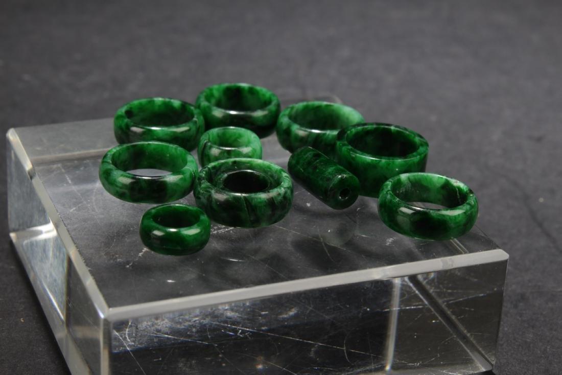 A Group of Jadeite Jade Earrings - 3