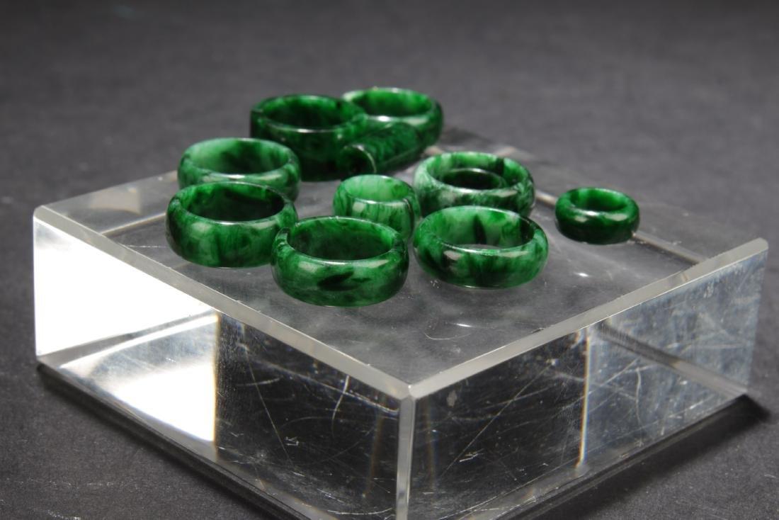 A Group of Jadeite Jade Earrings - 4