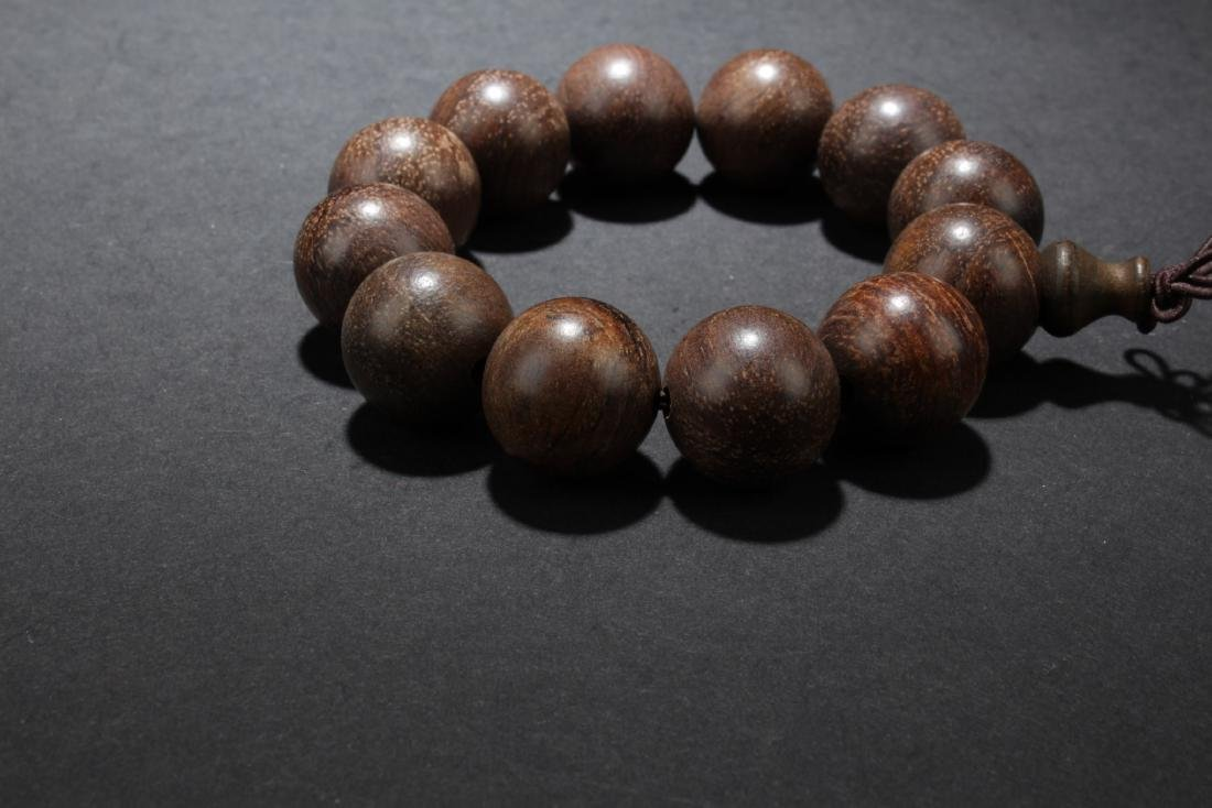 Chinese Wood (Possibly Huanghuali) Bead Bracelet - 3