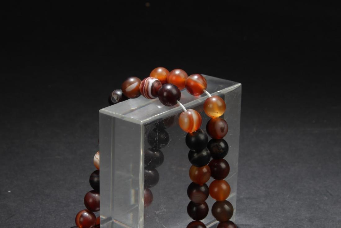 Chinese Agate Prayer Beads - 2