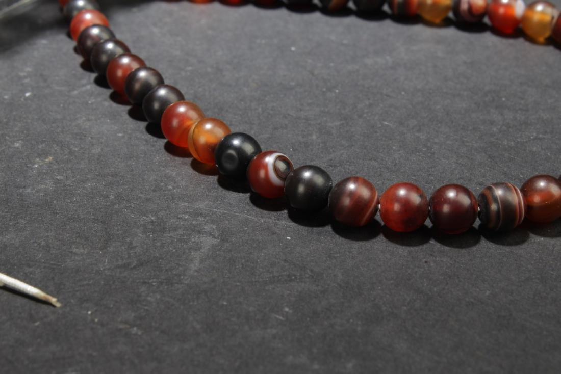 Chinese Agate Prayer Beads - 3