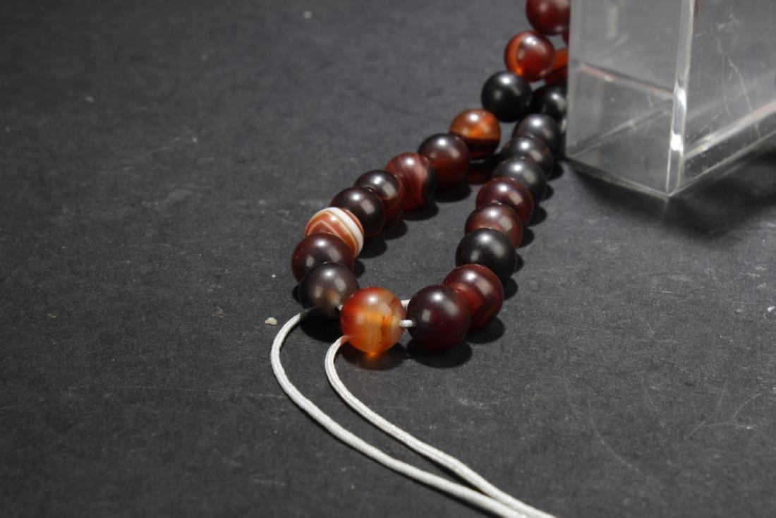 Chinese Agate Prayer Beads - 4