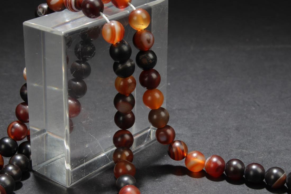 Chinese Agate Prayer Beads - 5