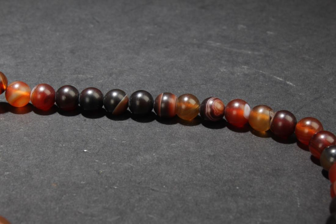 Chinese Agate Prayer Beads - 6