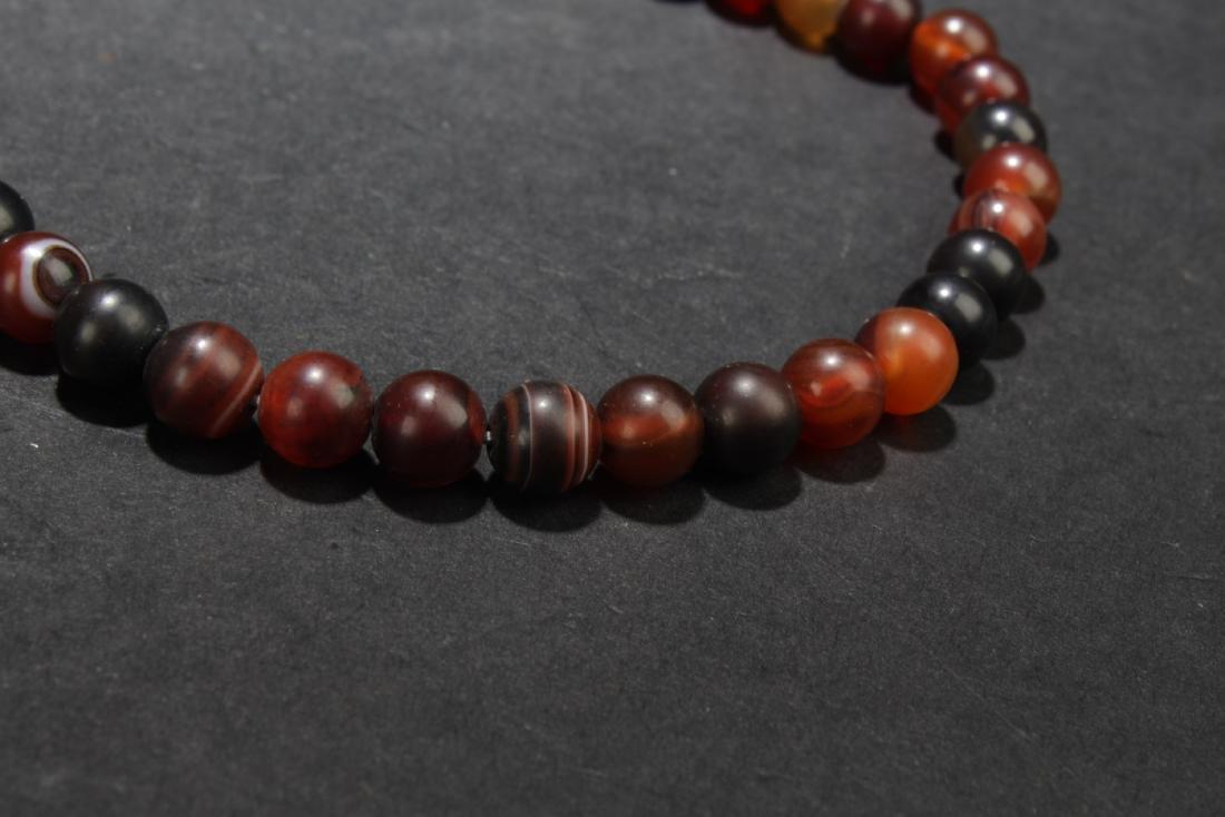 Chinese Agate Prayer Beads - 7
