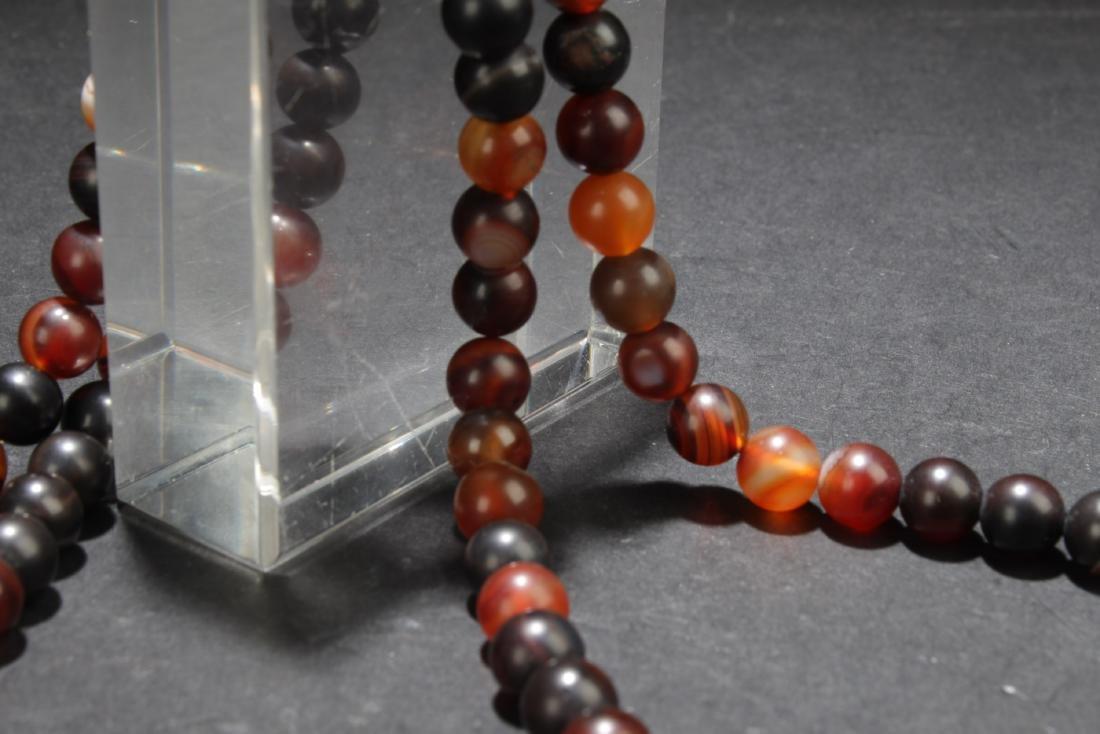 Chinese Agate Prayer Beads - 8