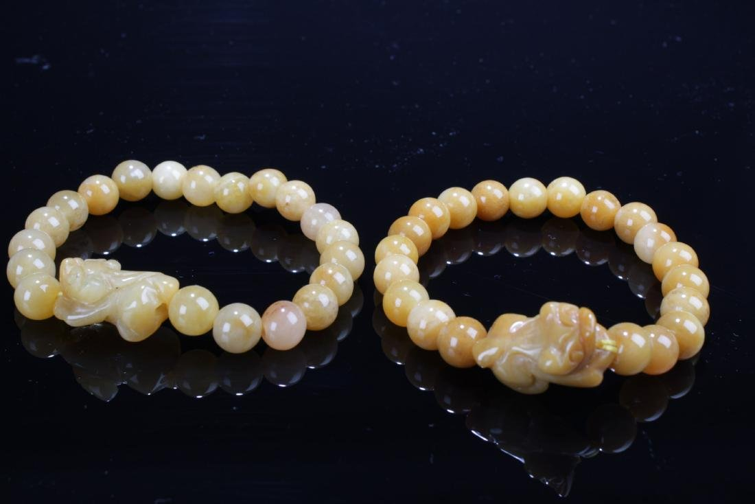 A Pair of Chinese Jade Bracelets