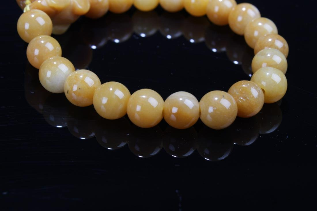 A Pair of Chinese Jade Bracelets - 5