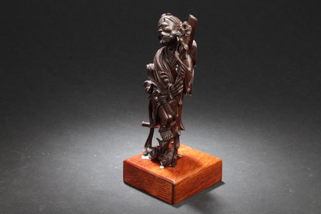 Antique Chinese HuangYangMu Carved Statue - 2