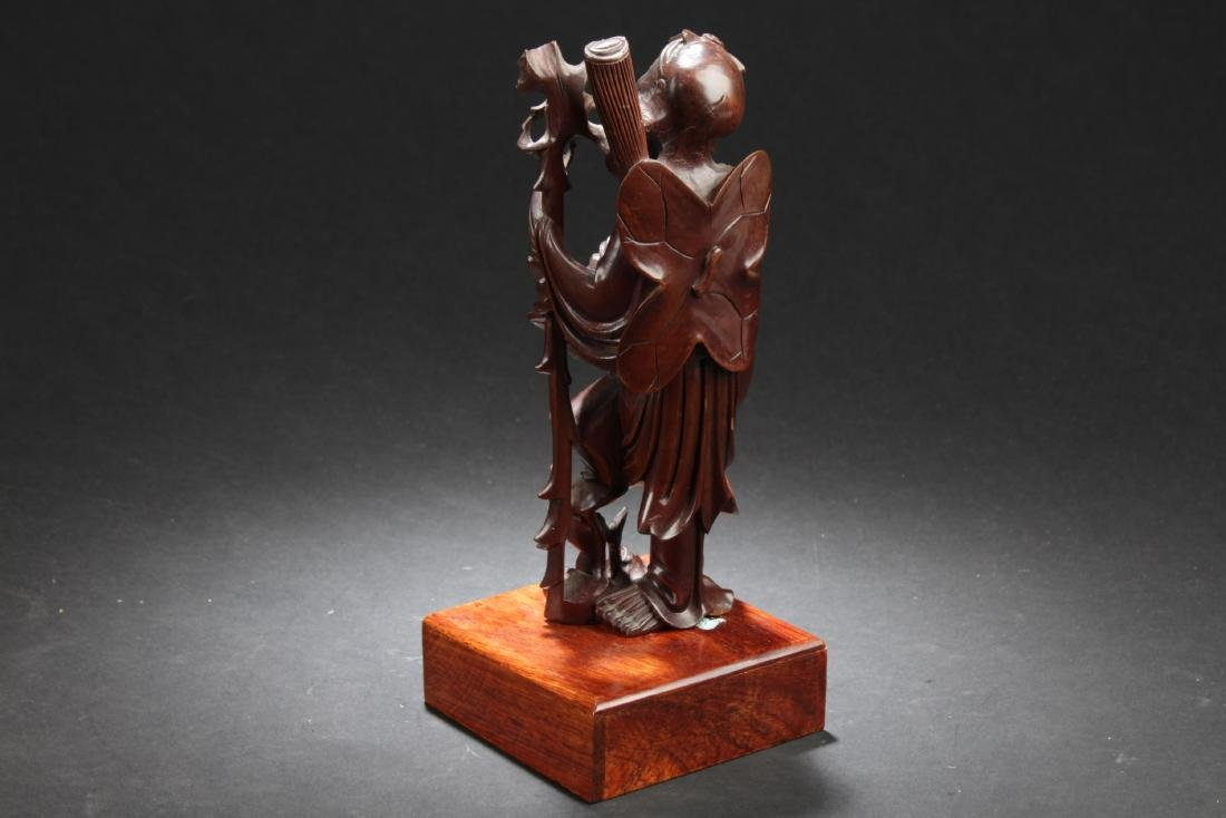 Antique Chinese HuangYangMu Carved Statue - 3