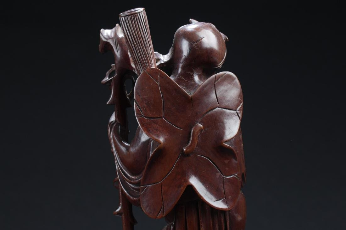 Antique Chinese HuangYangMu Carved Statue - 6