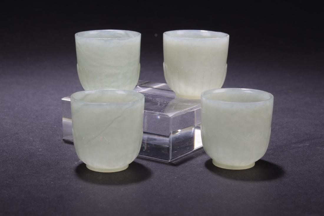 Four Chinese Jade Wine Cups - 2