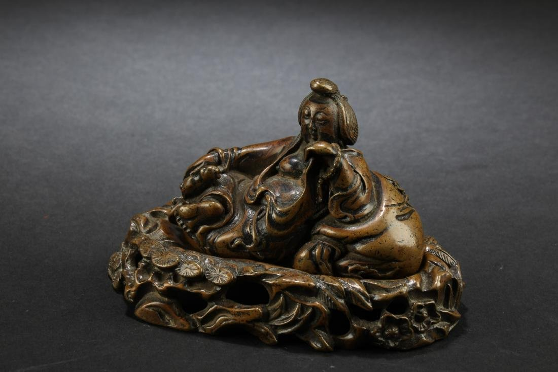 Chinese Bronze Ornament With Stand - 2