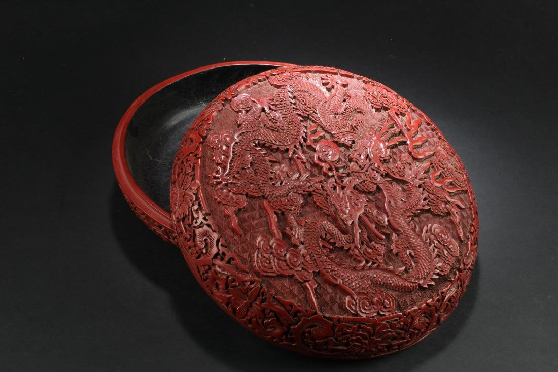 Chinese Cinnabar Lacquer Round Container - 2
