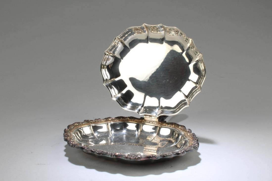 A Silver-Plated Shell Shaped Food Holder - 2