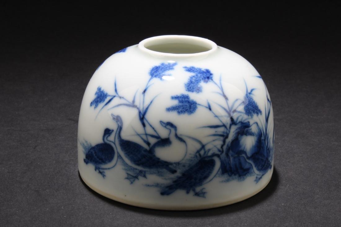 Chinese Blue & White Porcelain Ink Wash