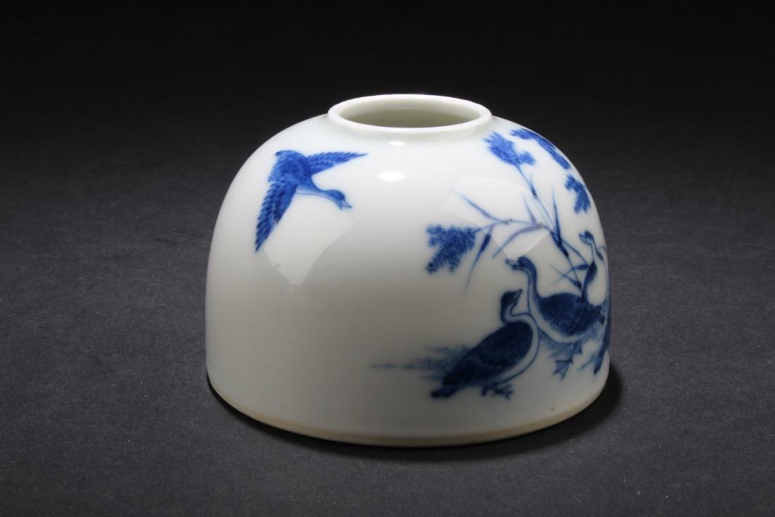Chinese Blue & White Porcelain Ink Wash - 2