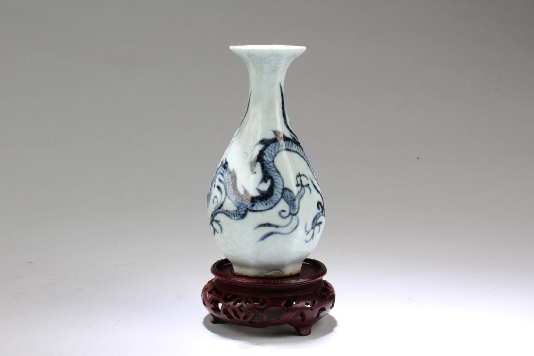 Chinese Porcelain Octagonal Shaped Vase - 2