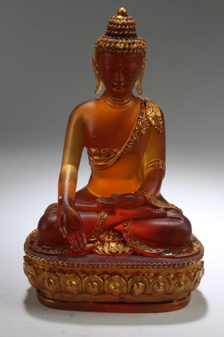Chinese peking Glass Buddhe statue