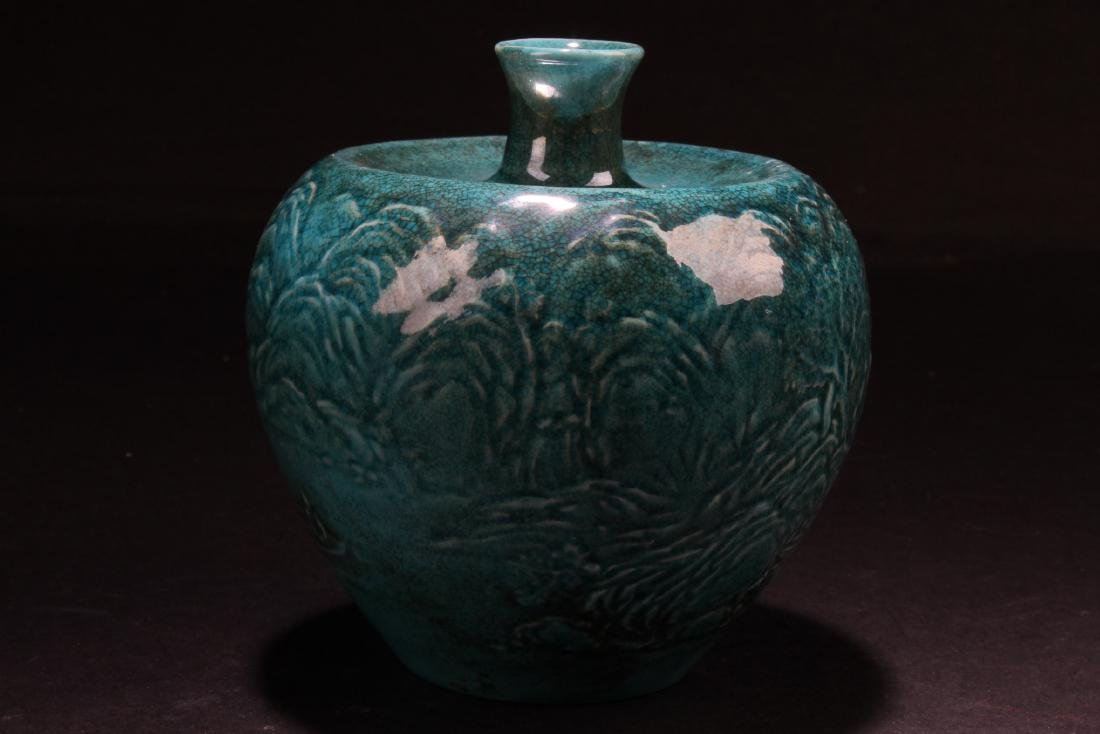A Chinese Torquoise Color Porcelain Vase - 2