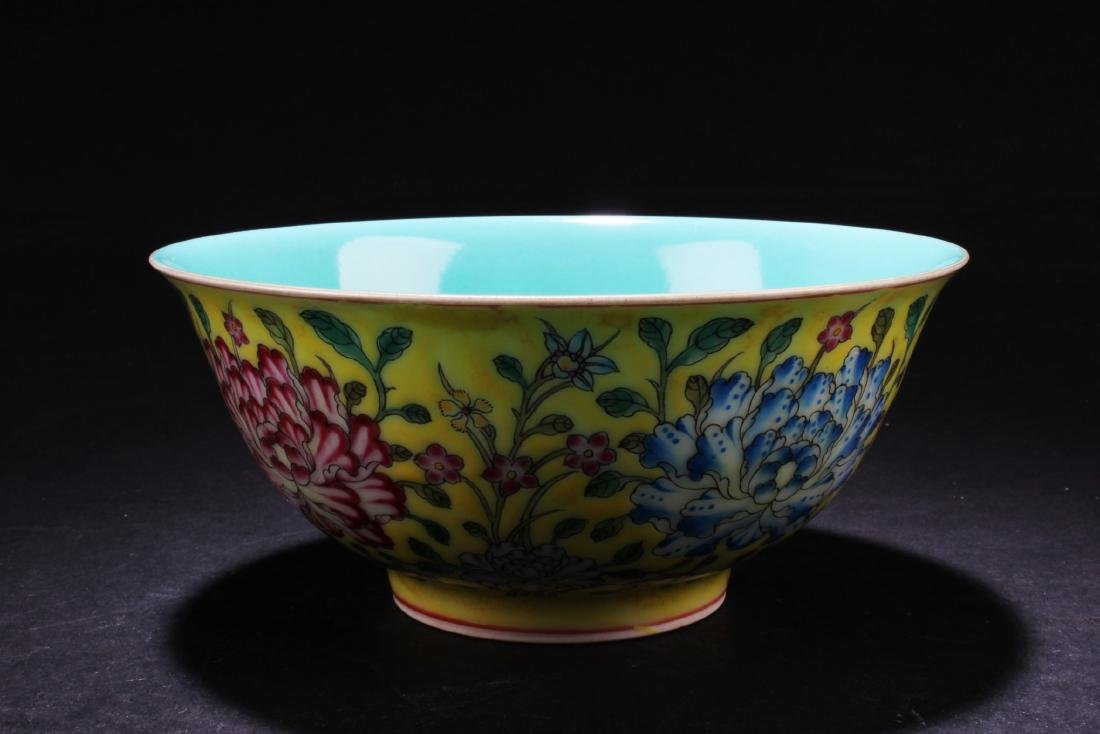 Chinese Famille Jaune Bowl