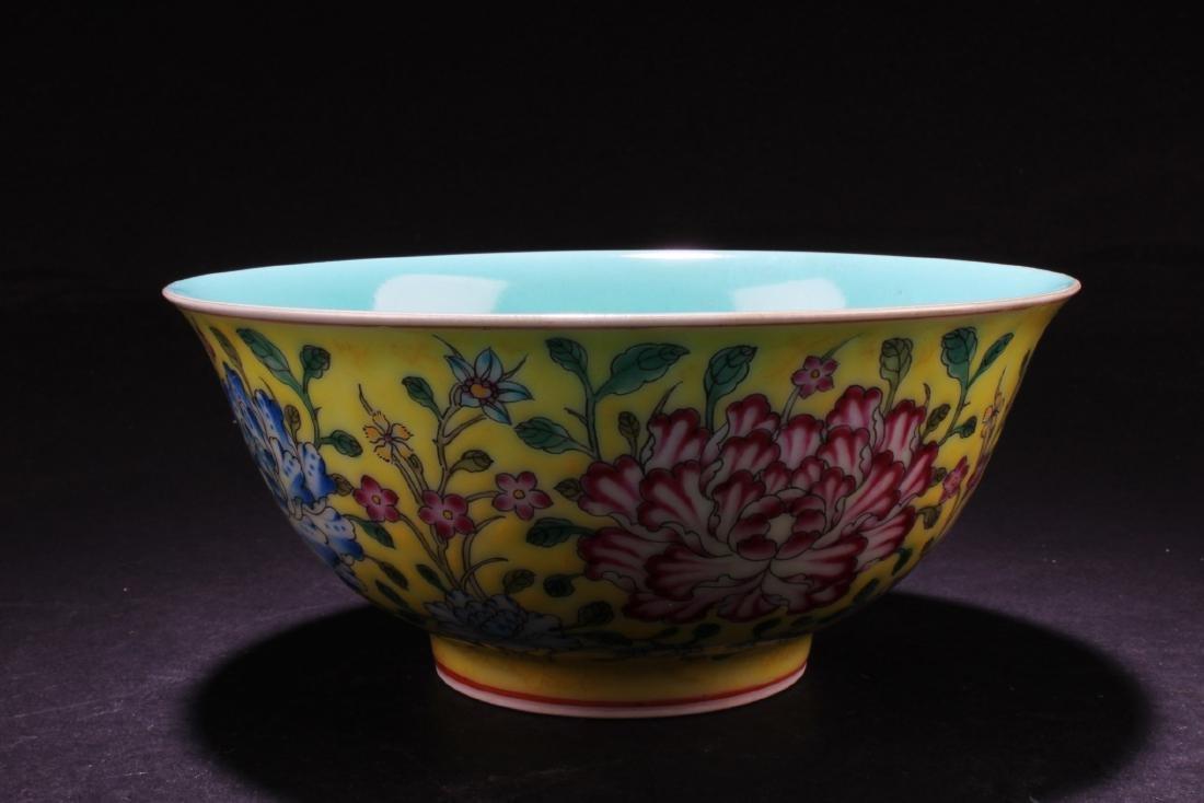 Chinese Famille Jaune Bowl - 2
