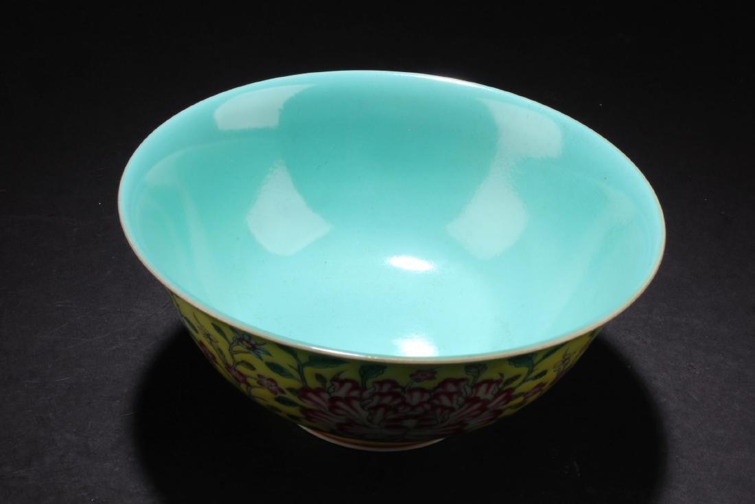 Chinese Famille Jaune Bowl - 3