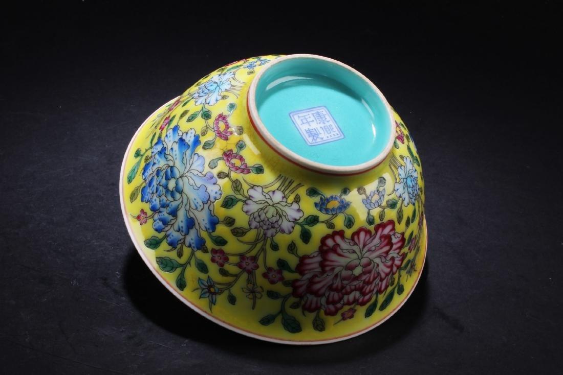 Chinese Famille Jaune Bowl - 4