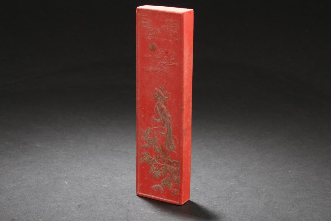 Chinese Red Color Ink Stick - 3