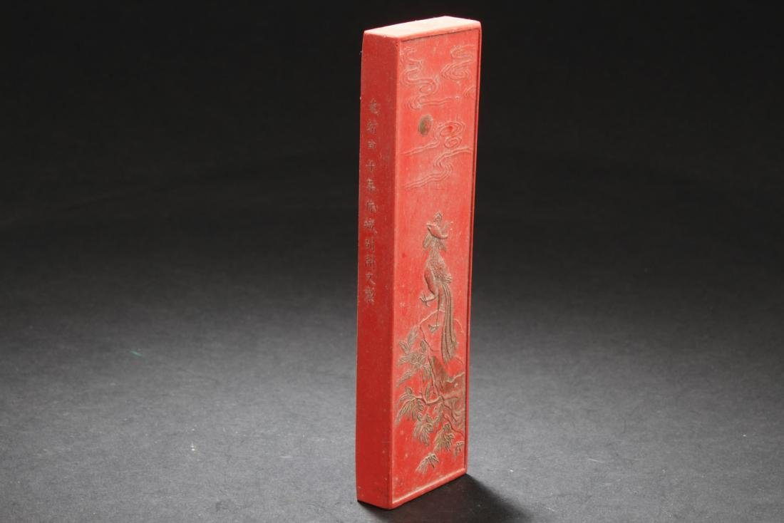 Chinese Red Color Ink Stick - 4