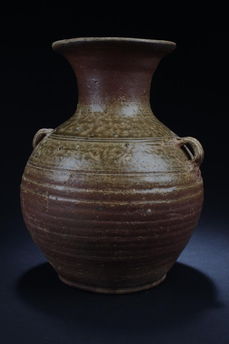 Antique Chinese Enamel Glazed Vase - 3