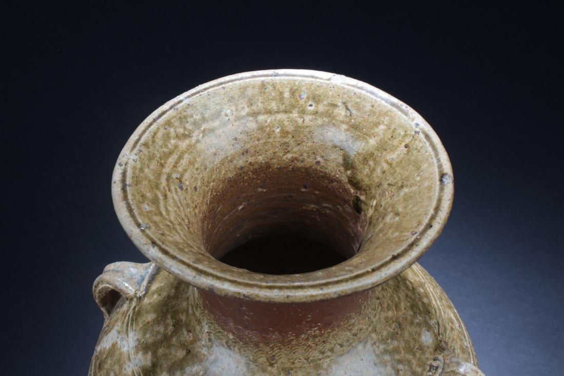 Antique Chinese Enamel Glazed Vase - 4