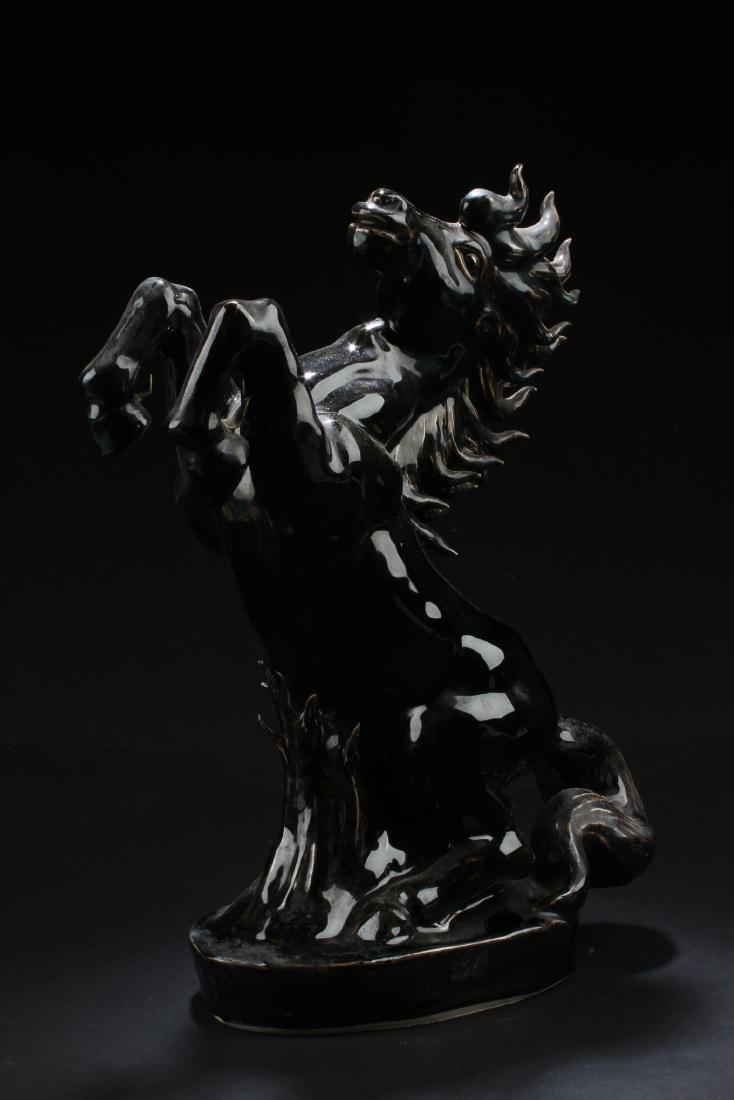 A Porcelain Horse Statue - 2
