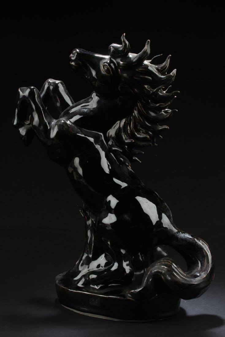 A Porcelain Horse Statue - 4