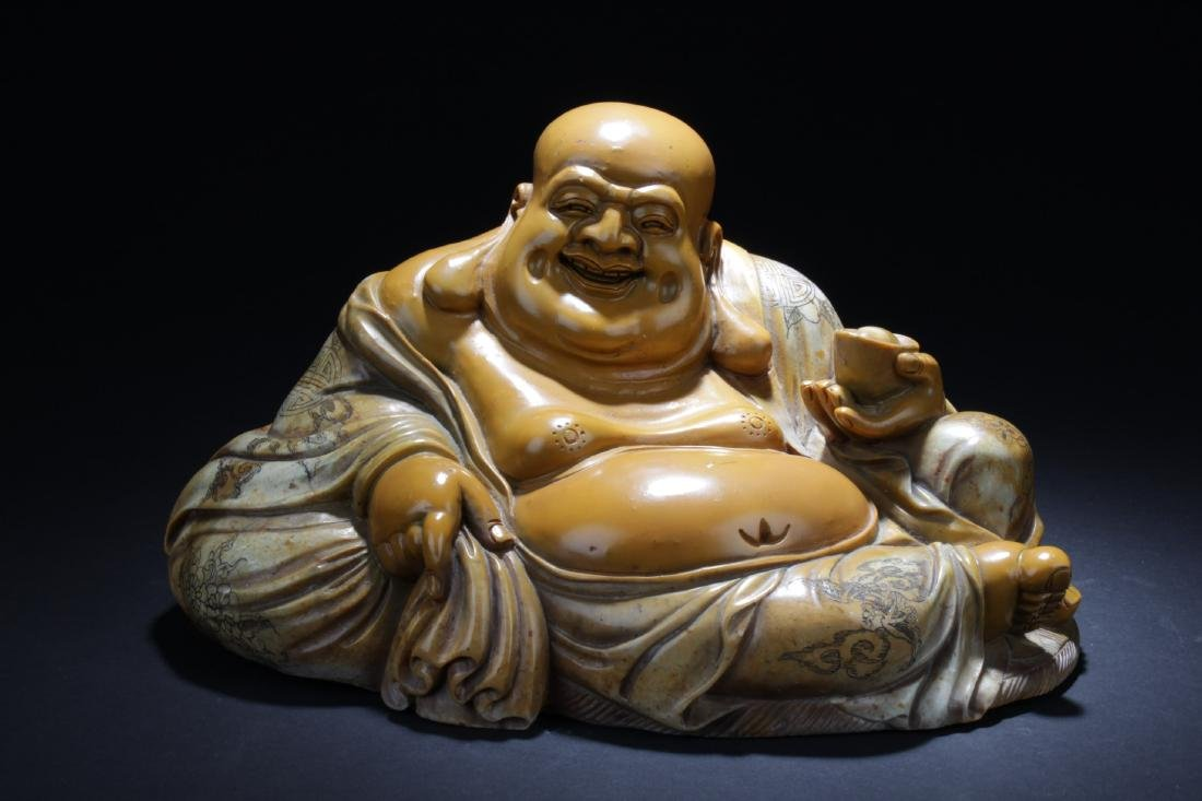 Chinese Soapstone Buddha Statue