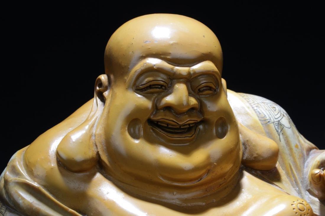 Chinese Soapstone Buddha Statue - 3